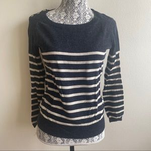 Aritzia Wilfred Wool Blend Striped Sweater